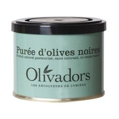 Olivadors black olive pate. Ok I admit it. I bought it because I like the tin and it's French.