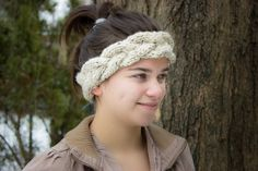 Hand Knitted Braided Headband by Calere, $20.00