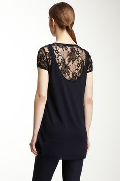 Lace Short Sleeve Combo Top