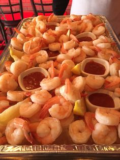 Don't forget #MONDAY is our Shrimp Cocktail Special. 6 pieces of shrimp for $5.00!! #CharcoalGuidos