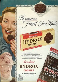 Sunshine Hydrox cookies - these came before Oreos!!  My grandma always had them in her cookie jar.  mama