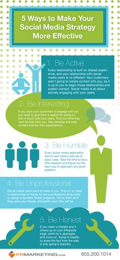 5 ways to make your social nedia strategy more effective  #SocialMedia #Strategy #Infographic
