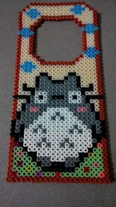 Totoro door hanger hama beads by Lucia Chan by paige