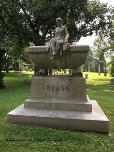 TFS Photos 1/3)- The Bragg Marker at the Spring Grove Cemetery, Cincinnati, Ohio (c) The Funeral Source, photo: Ken Naegele
