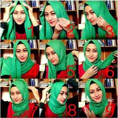 Turkish Inspired Hijab Tutorial – 9 Steps