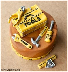 Tool Cake for Handymen... Perfect for my dad