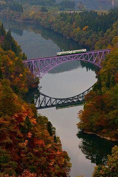 Tadami line - Tadami River in Autumn - Fukushima, Japan - Josh | Flickr