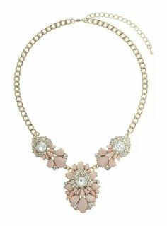 Pastel pink Dorothy Perkins necklace.