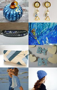 Fall Blues by Sandra Rollins on Etsy--Pinned with TreasuryPin.com