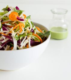 """Pad Thai Salad (raw; the """"noodles"""" are shredded carrots and zucchini)"""