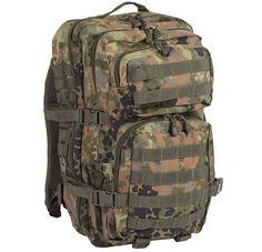 Mil-Tec Rucksack US Assault Pack, groß, flecktarn / mehr Infos auf: www.Guntia-Militaria-Shop.de