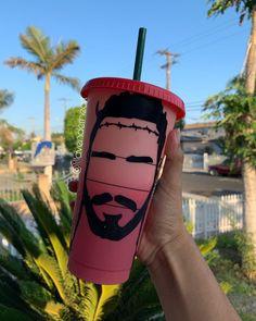 Personalized Starbucks Cup, Personalized Cups, Custom Cups, Custom Vinyl, Post Malone, Cup Design, Tumbler Cups, Cricut Ideas, School Supplies