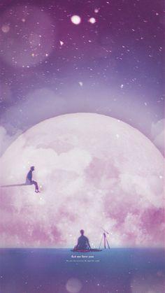 *☆°~Angels will fly to the moon~°☆* Serendipity, Bts Lyric, Army Wallpaper, Bts Backgrounds, Bts Lockscreen, Bts Fans, Kpop Fanart, Bts Jimin, K Pop