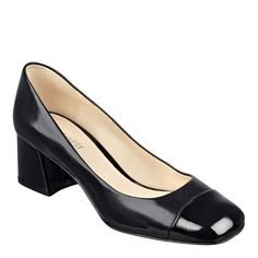"""Though elegantly understated, our Zipzap pumps pack a serious workday punch. Round toe design. Leather upper. Man-made lining and sole. Padded insole. Imported. 2"""" mid heels."""
