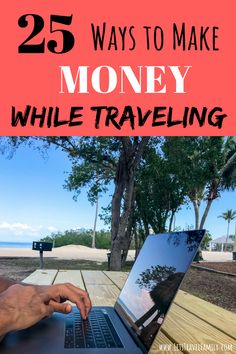Are you looking for creative ways to make money while traveling? Do you want to travel more with your family, but are unsure how you and earn money to pay your way? Read our top 25 ways that you can make money online, from home, or while traveling! Make Money Traveling, Travel Money, Rv Travel, Budget Travel, Traveling By Yourself, Travel Tips, Time Travel, Travel Destinations, Travel Trailers