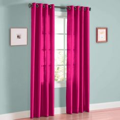 Gorgeous Home (MIRA) 2 Panels Solid Grommet Faux Silk Window Curtain Drapes Treatment in Length and Many Colors (HOT Pink, Short) Polka Dot Curtains, Sequin Curtains, Pink Curtains, Velvet Curtains, Window Drapes, Grommet Curtains, Window Panels, Curtain Panels, Window Coverings