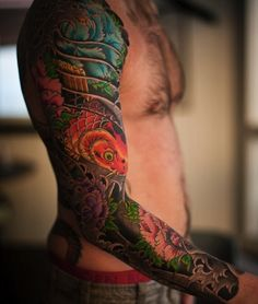 Japanese sleeve tattoo by Horimatsu, Sweden