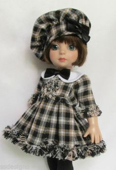 "OOAK Patsy' Pleasing in Plaid for 10"" Ann Estelle etc Made by Ssdesigns 