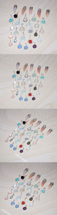 Pendants and Lockets 45079: Wholesale Lot!!925 Solid Sterling Silver Rose Quartz And Mix Gemstone Pendants -> BUY IT NOW ONLY: $175 on eBay!
