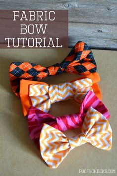 Simple Fabric Bow Sewing Instructions