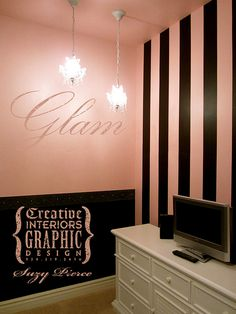"""Ideas for new """"glam"""" vanity room"""