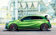 All new Mercedes AMG green Mercedes A45 Amg, Mercedes Benz Cars, Maserati, Bugatti, Ferrari, Mercedes A Class, Daimler Ag, Sexy Cars, Rolls Royce