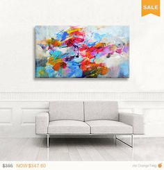 Abstract painting original acrylic, large canvas #art #painting @EtsyMktgTool http://etsy.me/2kEzpvX