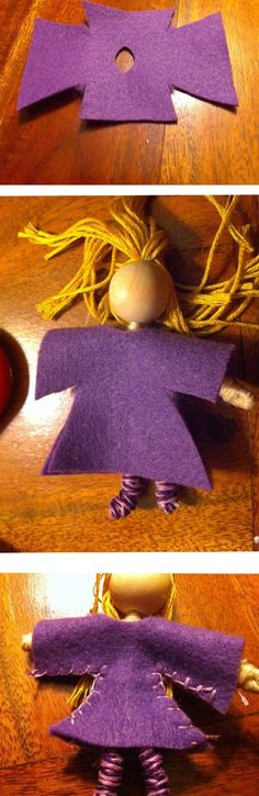 How to make a bendy doll out of pipe cleaners in Waldorf toy making style!  Waldorf dollhouse dolls from natural materials from Los Angeles Waldorf school.