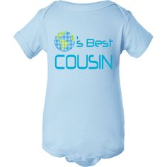 Worlds Best Cousin little boy one piece baby t-shirt www.personalizedfamilytshirts.com