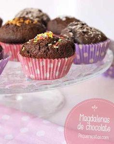 5 recetas de magdalenas deliciosas Recetas de magdalenas para toda la familia: magdalenas caseras, magdalenas de chocolate, magdalenas de zanahoria, multicolores, ¡y magdalenas de arroz!