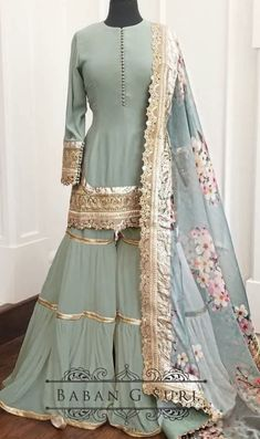Sharara Designs, Lehenga Designs, Pakistani Fashion Party Wear, Pakistani Wedding Outfits, Indian Fashion, Korean Women Fashion, Indian Party Wear, Pakistani Bridal, Indian Wear