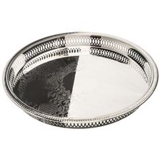 """Elegance Silver - 8924 12-3/4"""" Round Silver Plated Gallery Tray"""