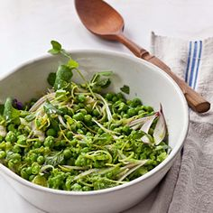 """Minted Spring Pea Salad from Michelle Obama's  cookbook """"American Grown"""" - via Eating Well"""