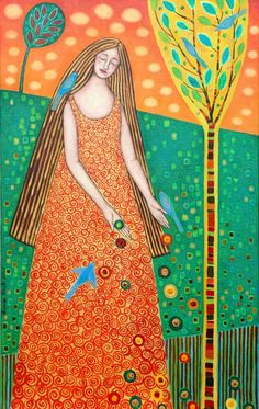Galería Obras Anteriores Break Free, Mixed Media Art, Veronica, Painting & Drawing, Orange Color, Chile, Disney Characters, Fictional Characters, Aurora Sleeping Beauty