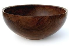 "Walnut bowl, 18"" dia., by Glenn Lucas"