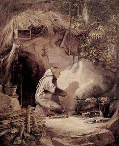 Mönche und Nonnen - Carl Spitzweg (1808 - 1885): Eremit. -- 1841.