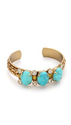 Elizabeth Cole Triple Stone Cuff Bracelet | SHOPBOP