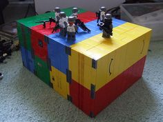 Shipping Containers made with Duplo (Lego)