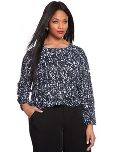 Plus Size Flowy Printed Top From The Plus Size Fashion Community At www.VintageAndCurvy.com