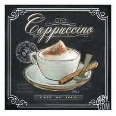 Coffee House Cappuccino Giclee Print by Chad Barrett at Art.com