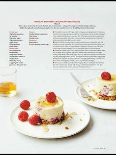 whisky raspberry cranachan cheesecake