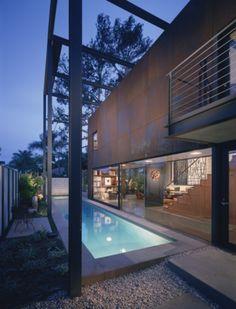 Modern pool by Ehrlich Architects…