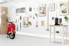 Food Lab Studio - Multifuncional space in Warsaw! #cooking #design #Lange #vespa #cook #kitchen #event #warsaw