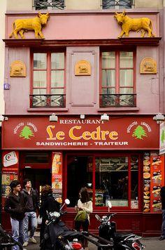 Enseigne de la rue Mouffetard - Paris