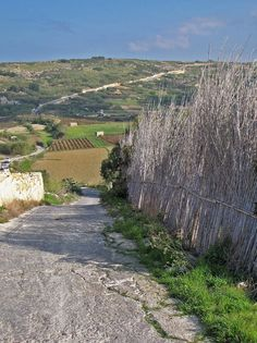 Gozo, Maltese Islands - View of the Gozo countryside. Four wheel drive vehicle needed because of steep hills and primitive roads