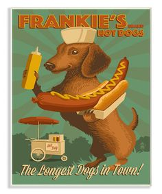 Love this 'Frankie's Hot Dogs' Wall Art on #zulily! #zulilyfinds