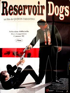 View this item and discover similar for sale at - Large original film poster for the award winning movie by Quentin Tarantino, Reservoir Dogs, starring Harvey Keitel (Mr White), Tim Roth (Mr Orange), Michael Quentin Tarantino, Tarantino Films, Dog Poster, Movie Poster Art, Pulp Fiction, Vintage Movies, Vintage Posters, Dog Films, Cinema Posters