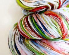 colorscape in opal : handspun yarn australian merino wool / hand painted hand dyed handpainted hand spun Spinning Yarn, Hand Spinning, Tapestry Loom, Yarn Inspiration, Art Yarn, Yarn Stash, Yarn Shop, Types Of Yarn, Fibres