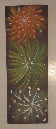Kuivapastelliliitutyön koristelu hopea- tai kultatusseilla Anna idean kiertää!: tammikuuta 2015 Classroom Art Projects, Art Classroom, Summer Chalkboard, January Art, Fireworks Art, Sensory Art, Art Carte, 5th Grade Art, New Year's Crafts