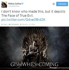 GISHWHES is Coming ||| Misha Collins on the Iron Throne ||| Misha on Twitter